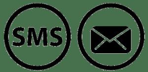 emial en sms gebruiken