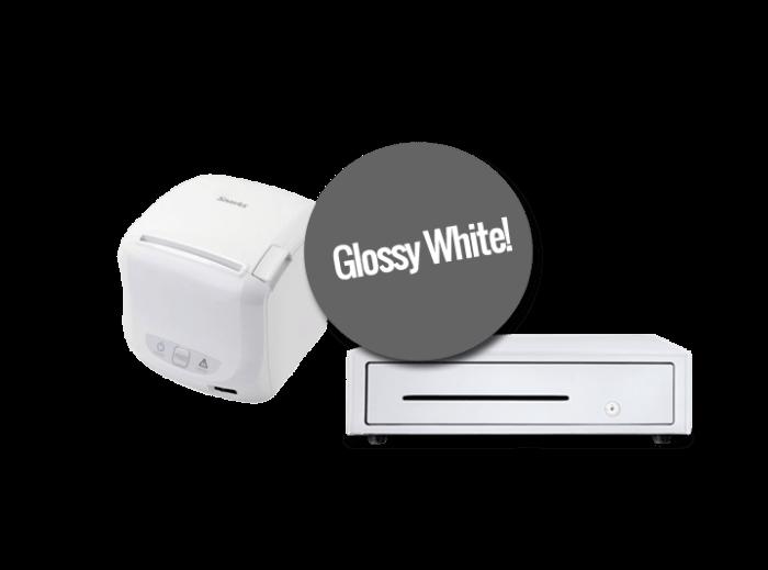 printer en kassalade (glossy white)