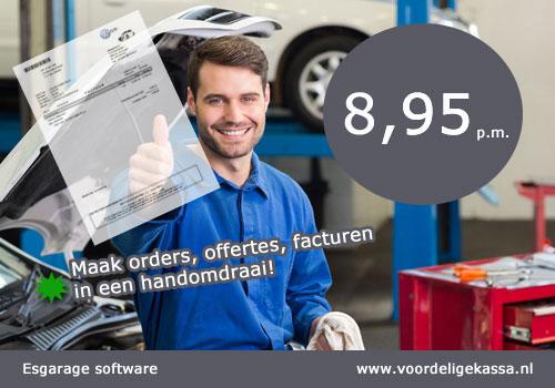 Garage software autobedrijven, garage programma, garage factuur software, software garage