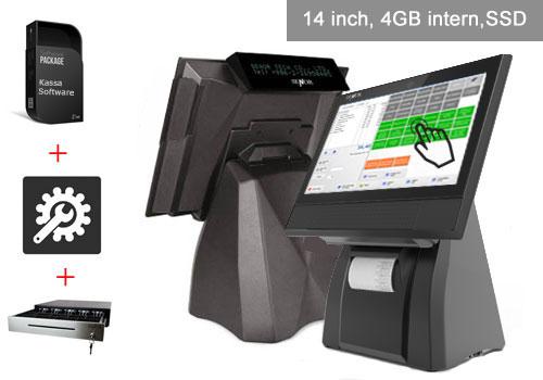 Kassalade, bonprinter, scan kassa