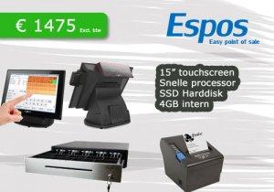 Touchscreen kassa