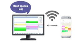 Cloud agenda + app, salon agenda, salon afspraken, salon planner, kapsalon agenda app