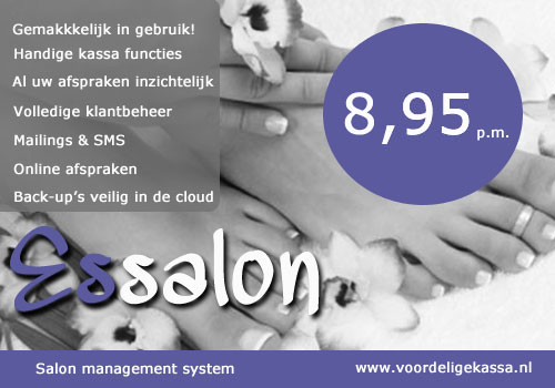 Manicure salon software, pedicure salon software, nagelsalon software, nagelstudio software, salon software