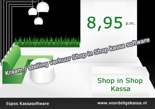 conceptstore kassasyteem, concept store kassa software, shop in shop kassa software